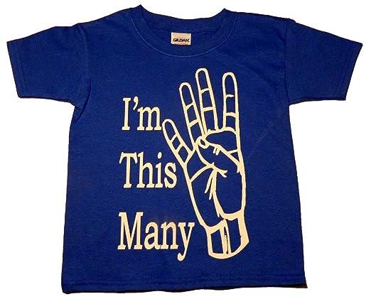 "Custom Kingdom Baby Boys' ""I'm This Many"" Second Birthday T-Shirt"