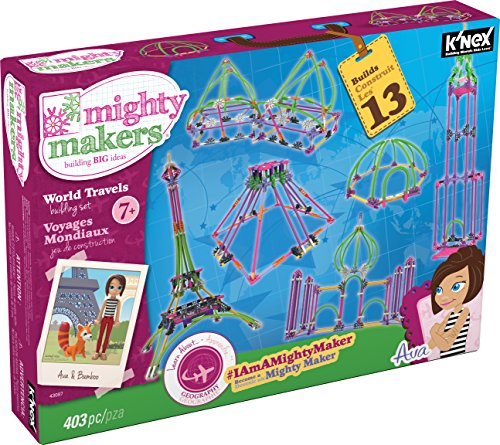 K'NEX Mighty Makers - World Travels Building Set - 403 Pieces - Ages 7+ Constructional Education Toy