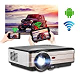 Android Bluetooth Projector Wireless (Color: Wireless Home Theater Projector-EUG X89+A)