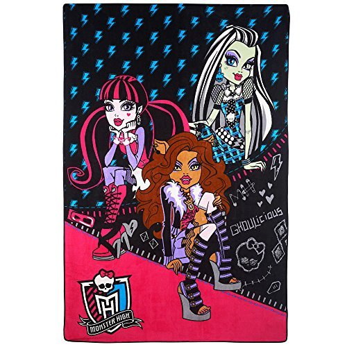 Monster High Plush Blanket - All Charged Up