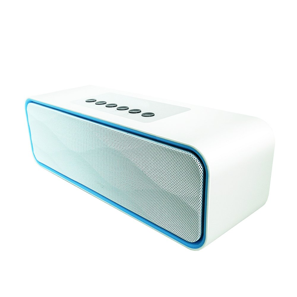 Bluetooth Speakers, Yoyamo Portable Wireless Speaker with Super Bass Stereo sound for Smart Phones, Tablet, PC(White)