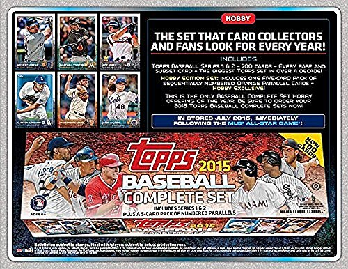 2015 Topps Baseball Cards Factory Set (700 cards+5 bonus cards) - Release Date July 8th