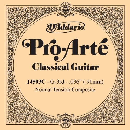 D'Addario J4503C Pro-Arte Composite Classical Guitar Single String, Normal Tension, Third String