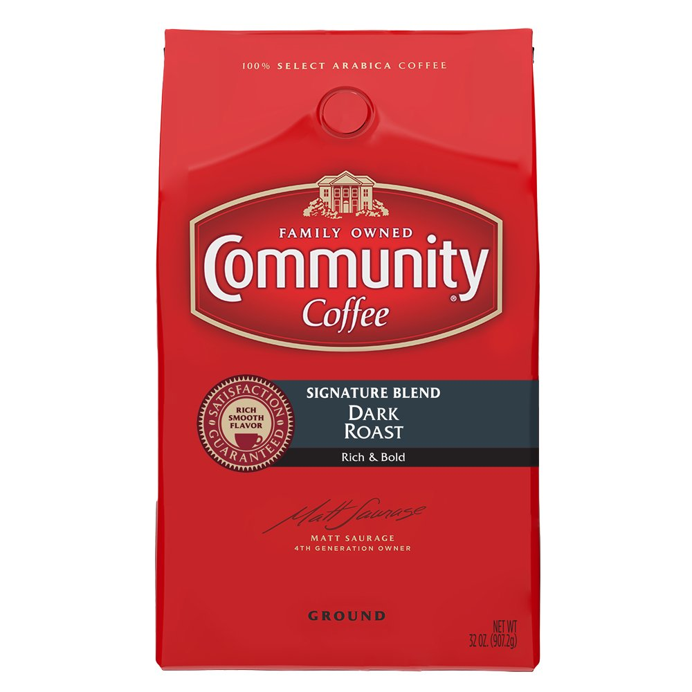 Community Coffee Premium Ground Coffee, Signature Dark Roast