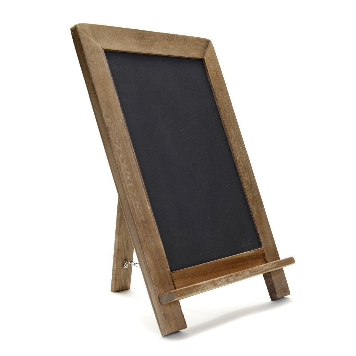 "Vintage Slate Kitchen Chalkboard (14"" x 9.5"") - Decorative Standing Chalk Board for Rustic Wedding & Kitchen Decor"