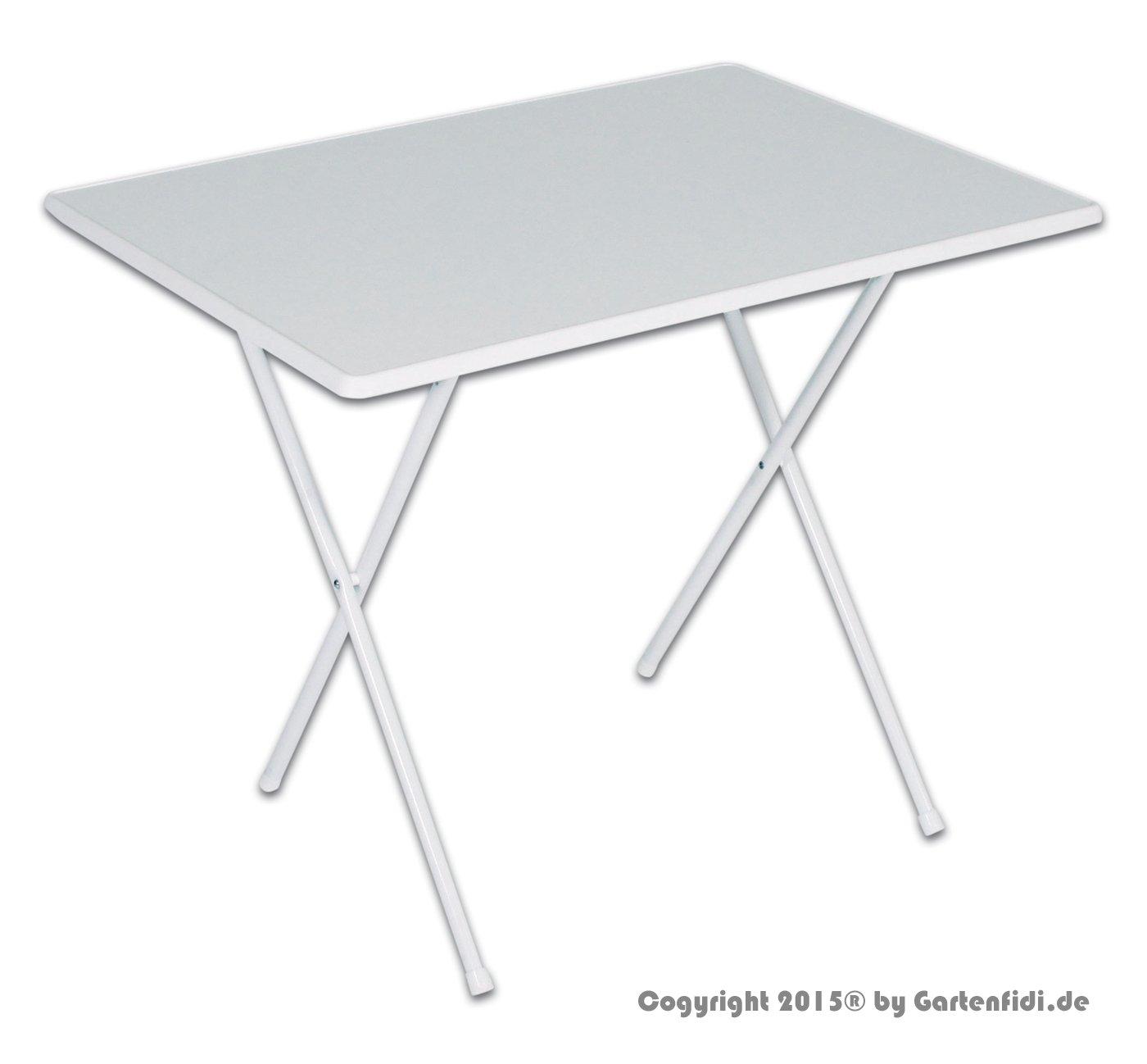 Campingtisch 60 x 80 cm weiß