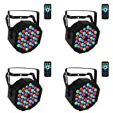 Par Lighting for Stage, 36x1W LED RGB 7 Channel with Remote for DJ KTV Disco Party (4 PCS) (Color: 4 Packs, Tamaño: 6.9x3.9x6.9inch)