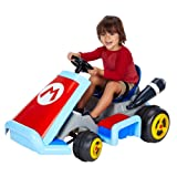 World of Nintendo Super Mario Kart Deluxe 12V Battery Operated Ride-On (Color: White/Red/Blue)
