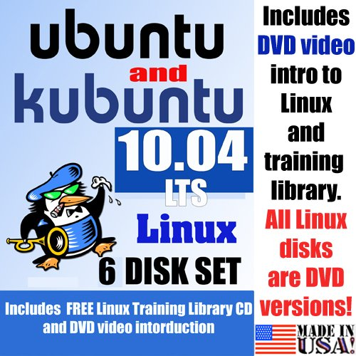 Ubuntu 10.04 LTS and Kubuntu 10.04 LTS, 6-disks DVD Set, Includes