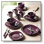 16-Pc Embossed Dinnerware Set