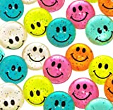 Hi-Bounce Glitter Smiley Face Balls (1 dz)