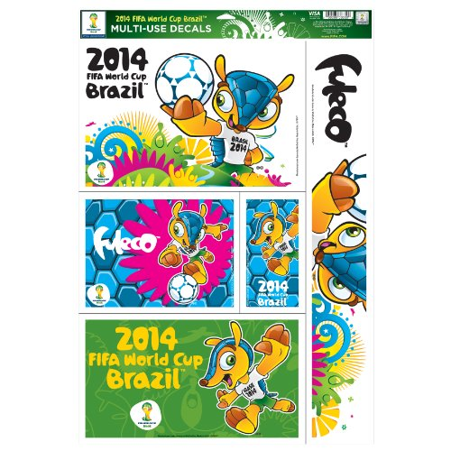 World Cup Soccer 2014 FIFA Mascot 11x17-Inch Multiple Designs Ultra Decal