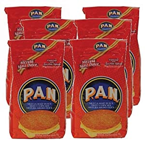 Amazon.com : Harina PAN 6 PACK Sweet Corn Meal Flour 6 x 1
