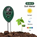 Soil pH Meter 3-in-1 Soil Test Kit For Moisture,Light & pH,Great For Garden,Farm, Lawn,Plants,Herbs & Gardening Tools,Indoor & Outdoor Plant Care Soil