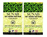 SUNAB-CERTIFIED ORGANIC AND 100% NATURAL DARK BROWN (TWIN PACK) HAIR COLOR
