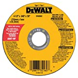 Rueda abrasiva con 7/8- pulgadas diámetro 4-1/2- pulgadas  por 0,045pulgadas de espesor de corte de metal  DeWalt DW8062