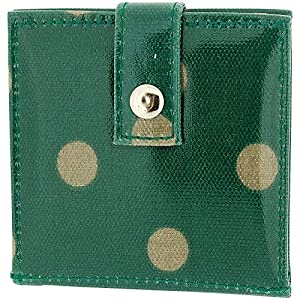 Green & Beige Polka Dot Design Wipeable Cosmetic Mirror