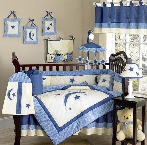 JoJo Designs 9-Piece Baby Crib Bedding Set - Stars and Moons