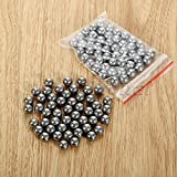 Generic 100 Carbon Steel Balls Catapult Slingshot Grade Steel Ball Outer Sports 8MM