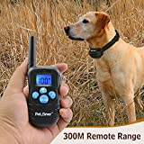 Petrainer-PET998DRB-Dog-Training-Collar-Rechargeable-and-Rainproof-330yd-Remote-Dog-Shock-Collar-with-Beep-Vibration-and-Shock-Electronic-Collar