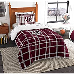 Texas A&M Aggies NCAA Twin Comforter Bed in a Bag (Soft & Cozy) (64in x 86in)