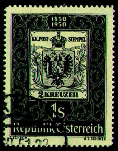 Briefmarken Österreich Nr. 950 gestempelt 100 Jahre Briefmarken 1950