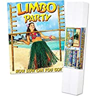 Limbo Kit Includes: 2 – 72 Poles w/Pegs; (72 Limbo Stick; Limbo Music CD) Party Accessory  (1 count)…