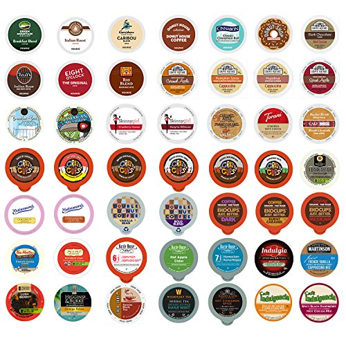 Coffee, Tea, and Hot Chocolate Variety Sampler Pack for Keurig K-Cup Brewers, 50 Count (Keurig Hot Chocolate Sampler compare prices)