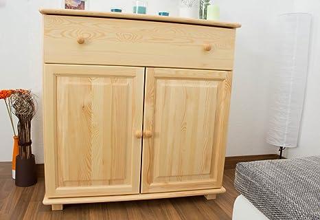 Dresser solid natural pine wood 048 - Dimensions 100 x 100 x 47 cm (H x B x T)