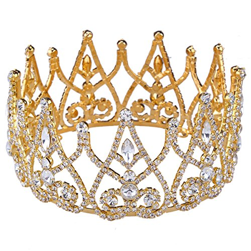 sant-fe-royal-gold-plated-crown-tiaras-queen-princess-hair-jewelry-wedding-bridal-jewelry-gold