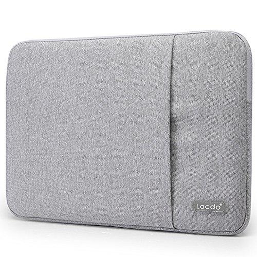 Lacdo Waterproof Fabric Laptop Sleeve Case Bag Notebook Bag Case For Apple MacBook Pro 13.3 Inch With Retina Display Macbook Air 13 Ultrabook, Gray