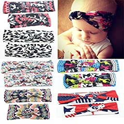 DRESHOW 6PCS Girls Hair Band Baby Mum Children Head Wrap sets Big Bow Headwrap Hair Accessories Baby Topknot Headband