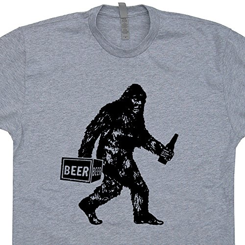 XL - Big-Drunk Bigfoot T Shirt Funny Sasquatch Bigfoot Drinking Beer T Shirt Shirtmandude T Shirts