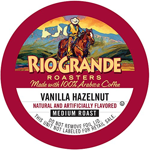 Rio Grande Roasters Vanilla Hazelnut, Medium Roast, Single Serve K-Cup, 12 Count