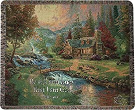 Thomas Kinkade quotMountain Paradisequot Tapestry Throw Blanket 50quot X 60quot