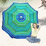 Deluxe 6 ft Beach Umbrella by Rio - UPF 100+