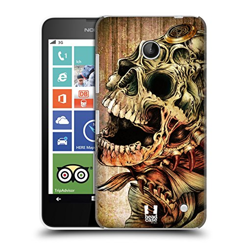 Head Case Designs Piranha Hydro Skulls Protective Snap-on Hard Back Case Cover for Nokia Lumia 630 Dual SIM 630 635