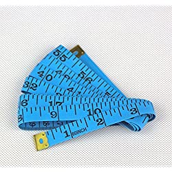 "150cm 60"" Soft Plastic Ruler Tailor Sewing Cloth Measure Tape(Blue)"