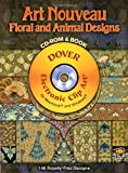 img - for Art Nouveau Floral and Animal Designs CD-ROM and Book (Dover Electronic Clip Art) book / textbook / text book