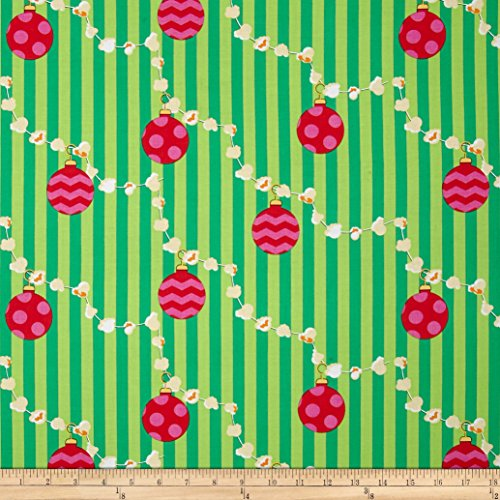 Michael Miller All the Trimmings Popcorn Garland Evergreen Fabric By The Yard (Popcorn Yard compare prices)