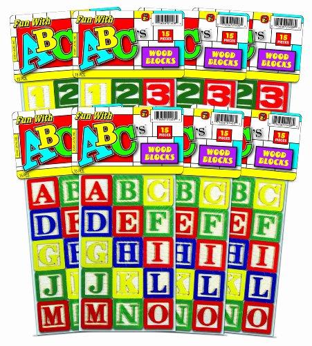 Ja-Ru Abc Wood Blocks Party Favor Bundle Pack front-668452