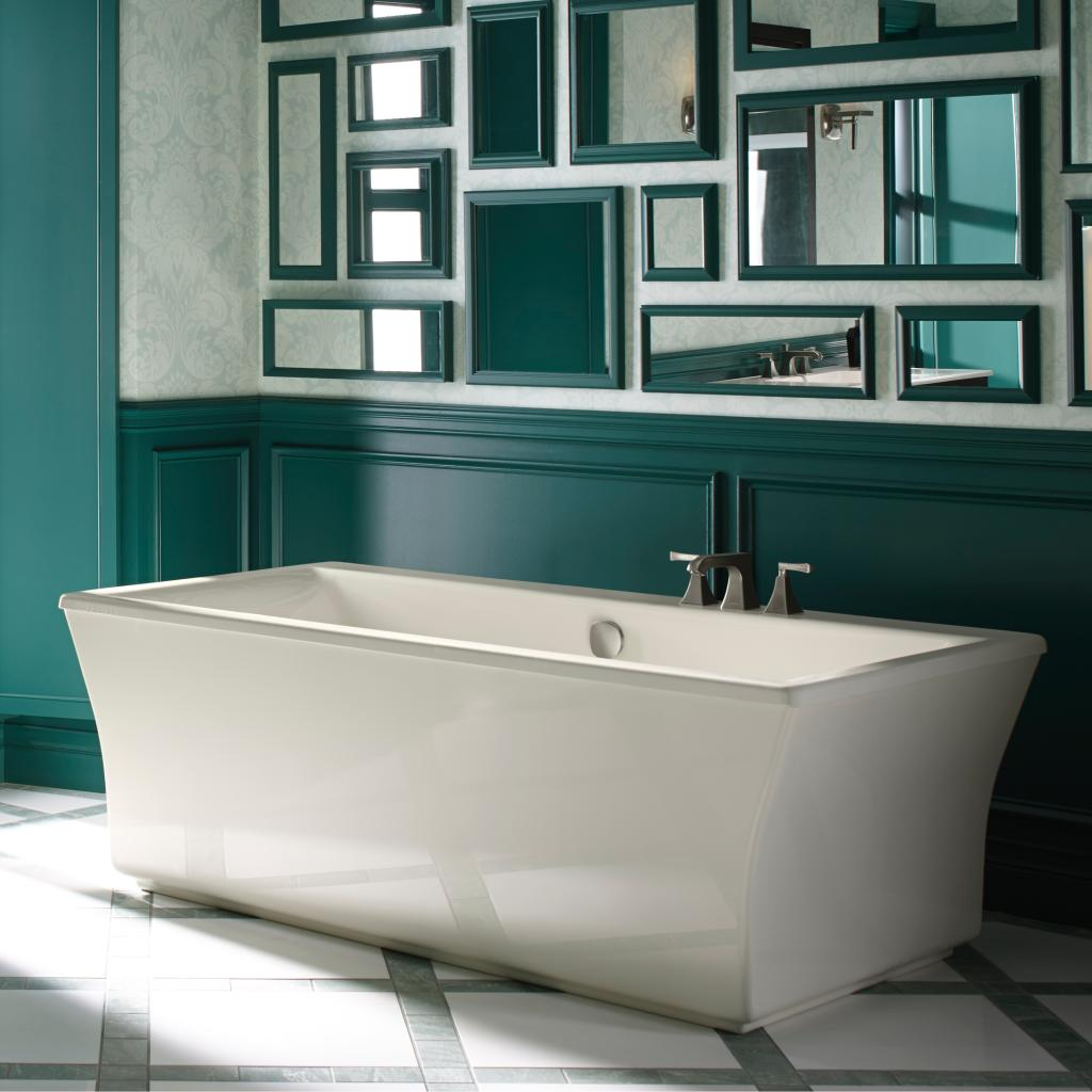 KOHLER K 6367 96 Stargaze 72 Inch X 36 Inch Freestanding Bath Wit