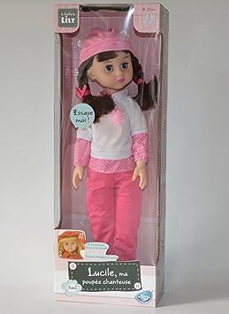 Lucile, ma poupée chanteuse - pantalon rose