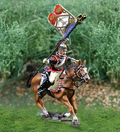 napoleonic-wars-collectible-metal-soldiers-french-curassier-flagbearer-collectors-showcase-cs00810-t
