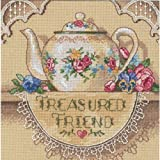 Gold Petites Treasured Friend Teapot Counted Cross Stitch Ki-6