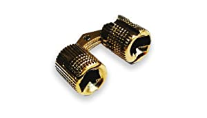 Actopus 10pcs Cylindrical 10mm M10 Brass Barrel Hinge Invisible Cabinet Furniture Hinges Concealed 180 Angle (Color: Brass)