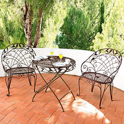 Gärtner Pötschke Sitzgruppe Chantilly (1Tisch + 2 Stühle)