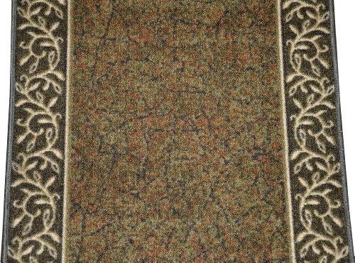 Dean Flooring Company Dean Custom Length Washable Carpet Rug Runner Garden
