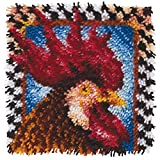 Spinrite Acrylic Blend Wonderart Latch Hook Kit 12 inch x 12 inch Rooster
