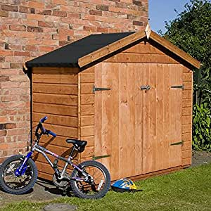 7x3 Shiplap Wooden Garden Shed ♦ Double Door ♦ Apex Roof Felt Floor ♦ No Windows